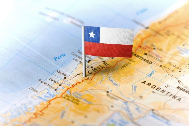 H2 synthetic fuel - Chile on map
