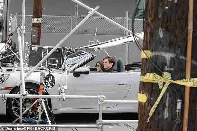 The latest: Ashton Kutcher, 43, was snapped filming his upcoming Netflix rom-com Your Place Or Mine in Los Angeles on Monday with co-starWesley Kimmel